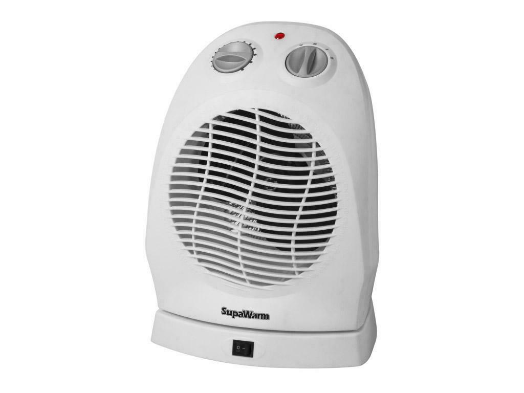 Fan Heater 2400 W Adjustable Thermostat