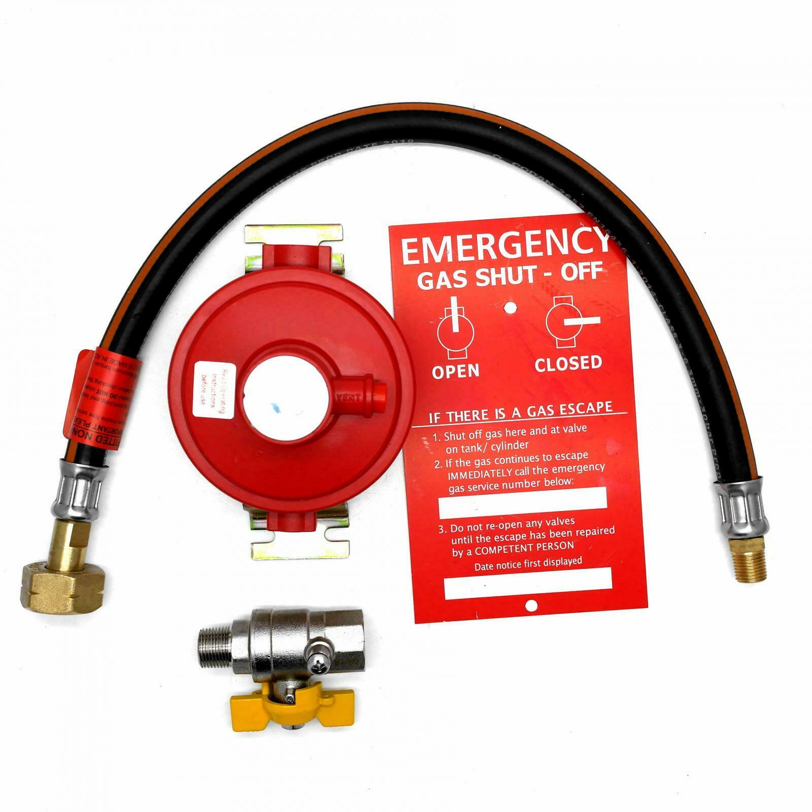 Continental Products Irish Market Wall Mounted 4Kgh 37Mbar Stranded Propane Gas Regulator 21.8 Lh Roi